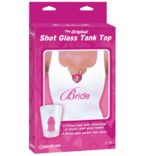 Bride to Be Shot Glass Tank Top 3 Sizes Hens Night & Bachelorette Party Shirt