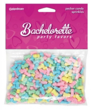 Bachelorette Pecker Sprinkles Penis Shaped Candy Candies Lolly Party Favour Hens