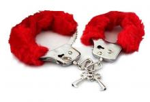 Furry Cuffs Handcuffs velvety-soft faux fur quick-release button