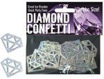 Diamond Mylar Confetti Silver Jumbo Size Engagement Bachelorette Party Hot Sexy
