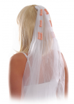 Clear hair comb Easy to use Soft White Tulle Penis accents PD601900